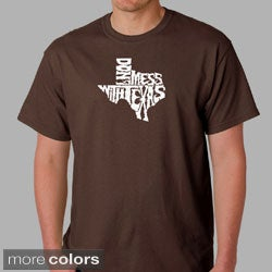 Los Angeles Pop Art Men's 'Don't Mess With Texas' T-shirt