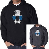 Los Angeles Pop Art Men's Mad Hatter Hooded Sweatshirt