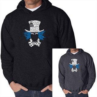 Los Angeles Pop Art Men's Mad Hatter Hooded Sweatshirt