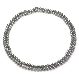 DaVonna Grey FW Pearl 48-inch Endless Necklace (6.5-7 mm)