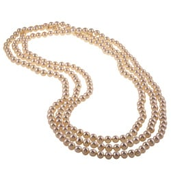DaVonna White FW Pearl 80-inch Endless Necklace (7.5-8 mm)