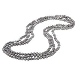 DaVonna Grey FW Pearl 80-inch Endless Necklace (7.5-8 mm)