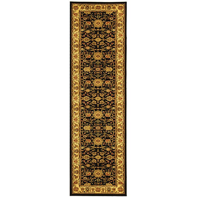 Lyndhurst Collection Majestic Black/ Ivory Runner (23 X 20)