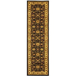 Lyndhurst Collection Majestic Black/ Ivory Runner (2'3 x 20') Safavieh Runner Rugs