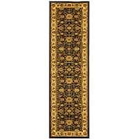 Safavieh Lyndhurst Traditional Oriental Black/ Ivory Runner (2'3 x 20')