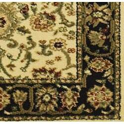 Safavieh Lyndhurst Traditional Oriental Ivory/ Black Runner (2'3 x 20') - Thumbnail 1