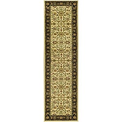 Safavieh Lyndhurst Traditional Oriental Ivory/ Black Runner (2'3 x 20') - Thumbnail 0