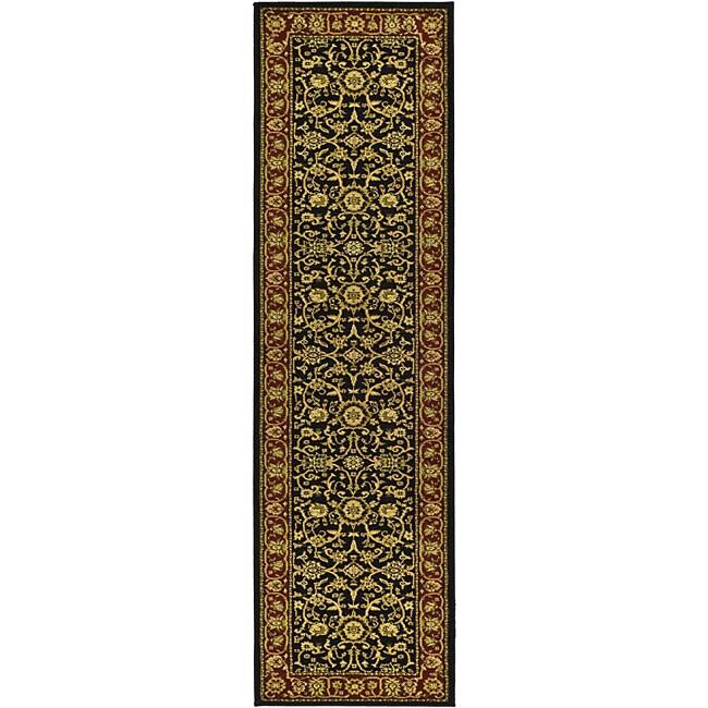 Safavieh Lyndhurst Traditional Oriental Black/ Red Runner (2'3 x 20')
