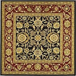 Safavieh Lyndhurst Traditional Oriental Black/ Red Rug (8' Square)