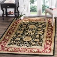 Safavieh Lyndhurst Traditional Oriental Black/ Red Rug - 8' x 8' Square