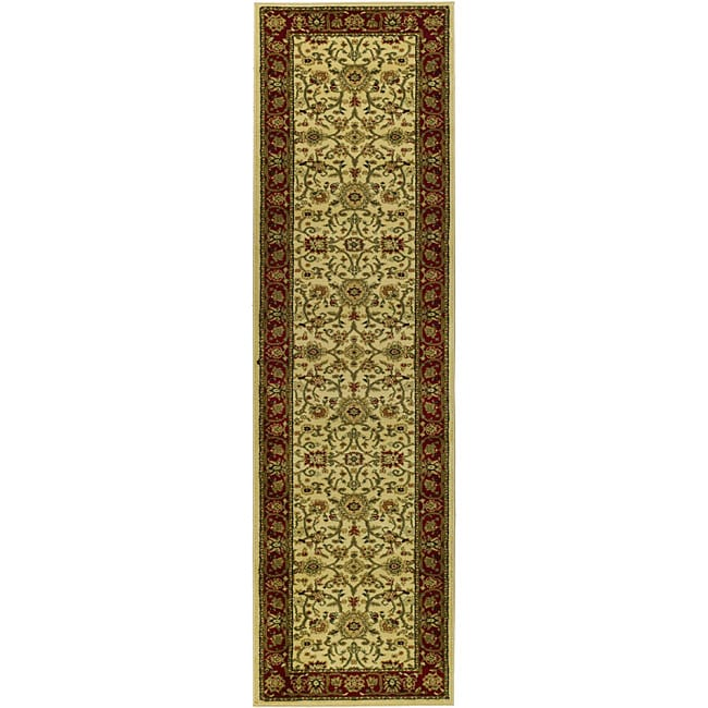 Lyndhurst Collection Majestic Ivory/ Red Runner (23 X 20)