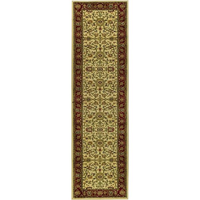Safavieh Lyndhurst Traditional Oriental Ivory/ Red Runner (2'3 x 20')