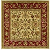 Safavieh Lyndhurst Traditional Oriental Ivory/ Red Rug - 8' x 8' Square