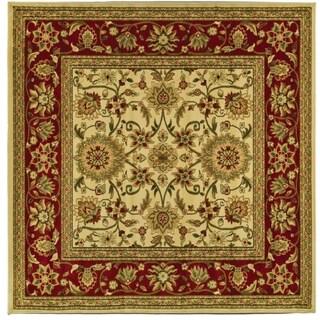 Safavieh Lyndhurst Traditional Oriental Ivory/ Red Rug (8' Square)