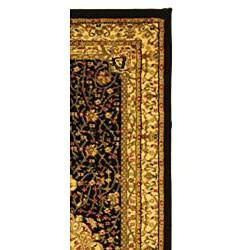 Safavieh Lyndhurst Traditional Oriental Black/ Ivory Runner (2'3 x 20') - Thumbnail 1