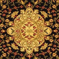Safavieh Lyndhurst Traditional Oriental Black/ Ivory Runner (2'3 x 20') - Thumbnail 2