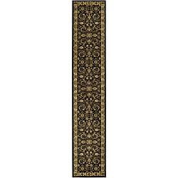 Safavieh Lyndhurst Traditional Oriental Black/ Ivory Runner (2'3 x 20')