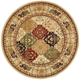 Safavieh Lyndhurst Traditional Oriental Multicolor/ Beige Rug - 8' x 8' Round
