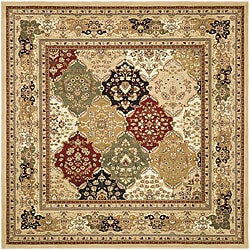 Safavieh Lyndhurst Traditional Oriental Multicolor/ Beige Rug (8' Square)