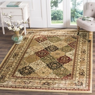 Safavieh Lyndhurst Traditional Oriental Multicolor/ Beige Rug (8' Square)