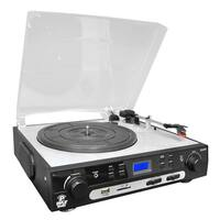 Pyle PLTTB9U 3-Speed Turntable with Direct to USB/SD Digital Encoder & Built-in Speakers
