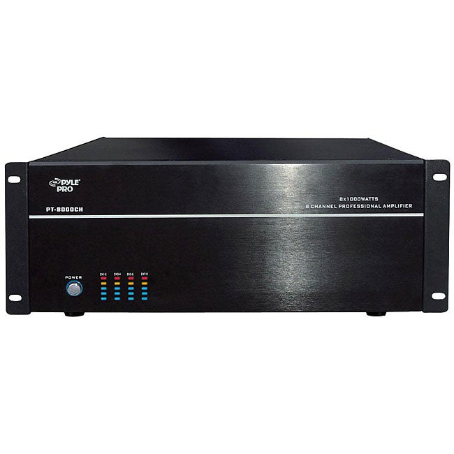 Pyle Pt8000ch 19 Inch Rack Mount Stereo Mono Amplifier