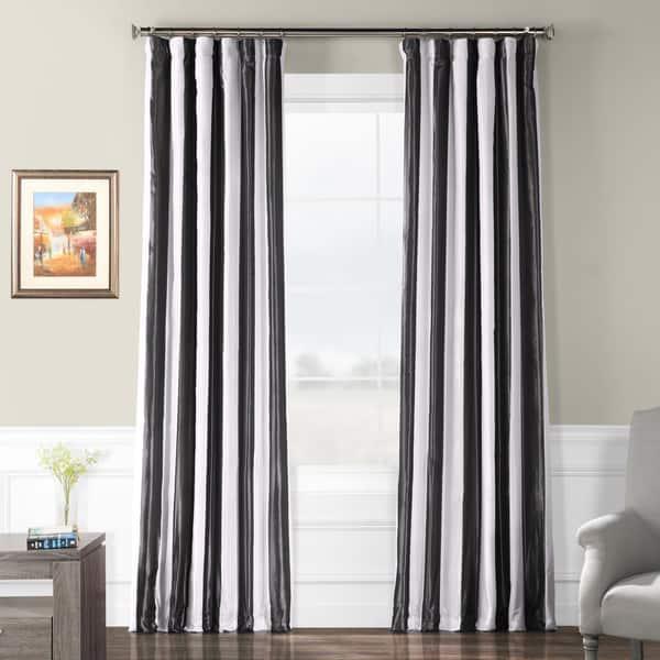 Exclusive Fabrics Signature Stripe Dark Grey White