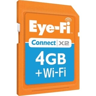 Eye-Fi Connect X2 Wireless 4GB SDHC Memory Card