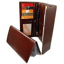 Castello Women's Checkbook Clutch Leather Wallet