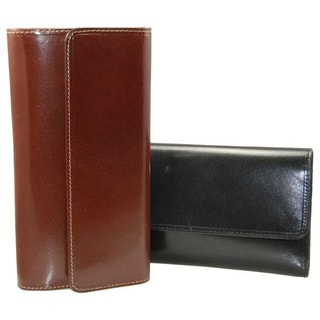 Castello RFID Women's Checkbook Clutch Leather Wallet