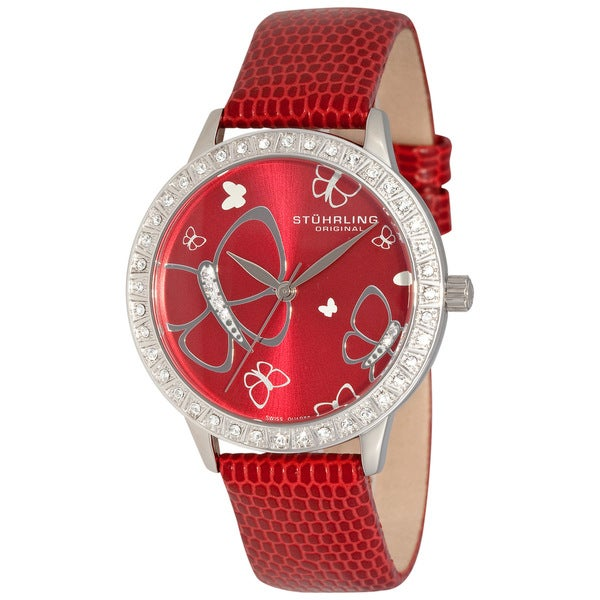 Stuhrling Original Women's 'Fantasia' Crystal Swiss Quartz Watch