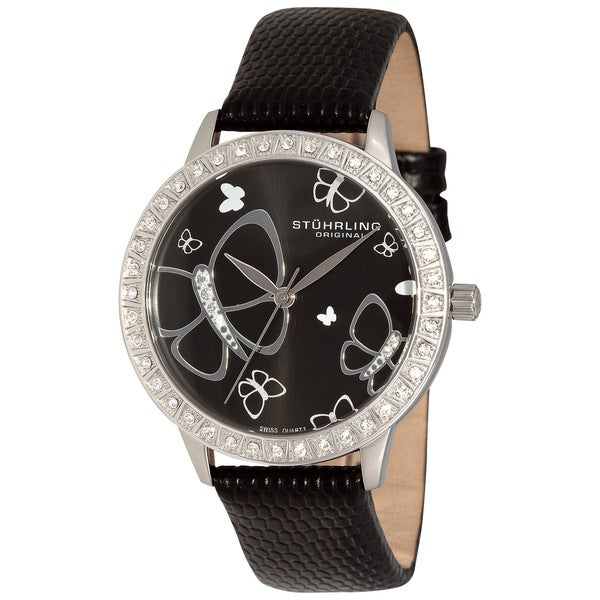 Stuhrling Original Women's Fantasia Stainless Steel Case Crystal Watch