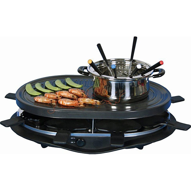 E-Ware Grill/ Fondue Pot with Thermostat Control - Thumbnail 0