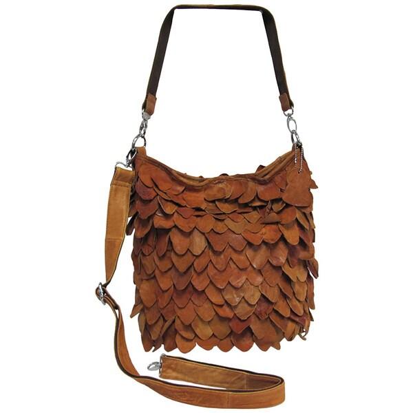 Amerileather Junior Hawk Leather Eco Shoulder Handbag