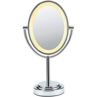 Conair Oval Polished Chrome Double Sided 1x-7x Illuminated Mirror