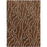 Hand-tufted Brown Contemporary Geometric Mayflower Wool Area Rug - 8' x 11'