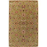 Hand-tufted Augusta Sage Wool Area Rug - 7'6 x 9'6