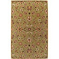 Hand-tufted Augusta Sage Wool Area Rug (7'6 x 9'6)