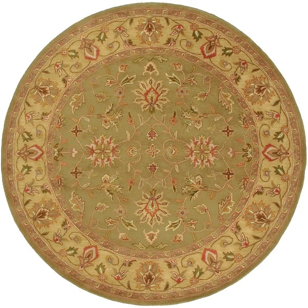 Hand-tufted Camelot Wool Rug (8' Round)