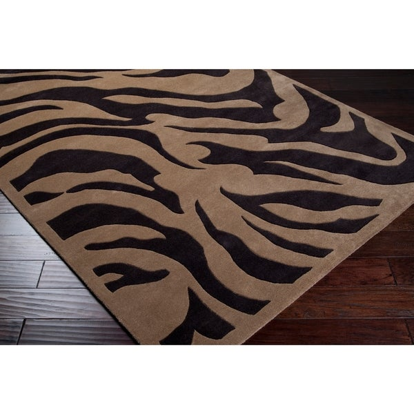 Shop Hand-tufted Contemporary Brown Zebra Current New