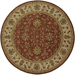 Hand-Tufted Camelot Oriental Wool Rug (8' Round)