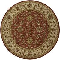 Hand-Tufted Camelot Oriental Wool Area Rug (8' Round)