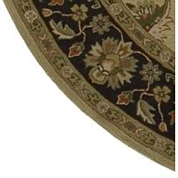Hand-tufted Camelot Wool Rug (8' Round) - Thumbnail 1