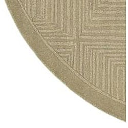 Hand-crafted Solid Beige Geometric Manhattan Wool Rug (7'9 Round) - Thumbnail 1