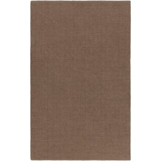 Hand-crafted Solid Brown Casual Lyan Wool Area Rug - 8' x 11'/Surplus