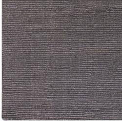Hand-crafted Solid Brown Casual Lyan Wool Rug (8' x 11') - Thumbnail 2