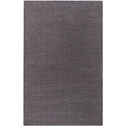 Hand-crafted Solid Brown Casual Lyan Wool Rug (8' x 11')
