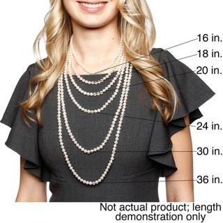DaVonna 14k 9-10mm Grey Freshwater Cultured Pearl Strand Necklace (16-36 inches)