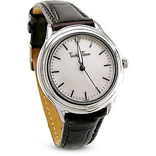 TechnoTime Women's White Rhodium Watch