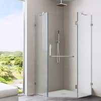 VIGO 38 x 38 Frameless Neo-angle Clear Shower Enclosure